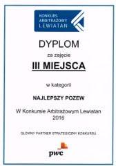 Konkurs Arbitrażowy Lewiatan - Dyplom
